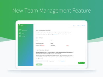 New Integration Portal Feature: Team Management