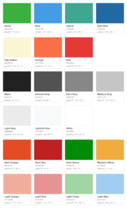 Civic brand colors